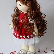 """Куклы и игрушки ручной работы. Ярмарка Мастеров - ручная работа Куколка """"Валентинка"""". Handmade."""
