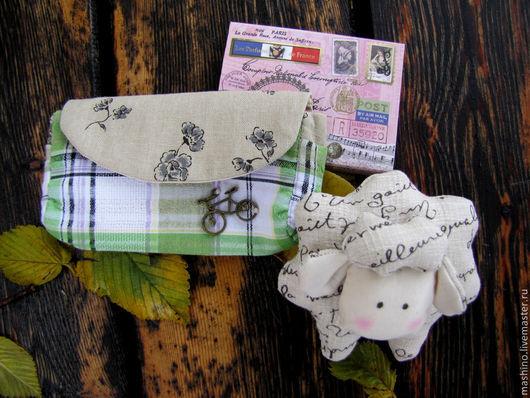 """Куклы Тильды ручной работы. Ярмарка Мастеров - ручная работа. Купить """"Вам письмо"""", набор. Handmade. Бежевый, косметичка, лён"""