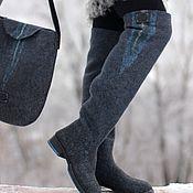 """Обувь ручной работы. Ярмарка Мастеров - ручная работа Комплект ботфорты+сумка """"Шторм"""". Handmade."""