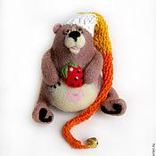 """Куклы и игрушки ручной работы. Ярмарка Мастеров - ручная работа Войлочная фигурка — """"Медведь-засоня"""". Handmade."""