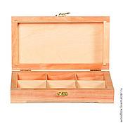 Материалы для творчества handmade. Livemaster - original item 22126P6 box for small things under decoupage with 6 cells 22×12×6 cm.. Handmade.