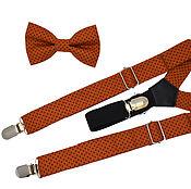 Ties handmade. Livemaster - original item Set bow tie and suspenders