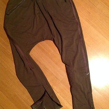 Одежда ручной работы. Ярмарка Мастеров - ручная работа Трикотажные штаны милитари хлопок 100%. Handmade.