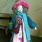 Куклы и игрушки ручной работы. Ярмарка Мастеров - ручная работа Интерьерный Ангел рукоделия в стиле бохо Мадам Белошвейка. Handmade.