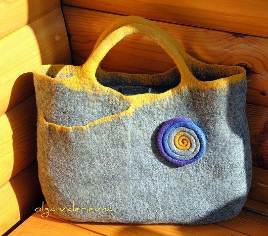 Женские сумки ручной работы. Ярмарка Мастеров - ручная работа. Купить Сумка 2 в 1. Handmade. Валяная сумка