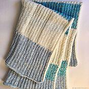 Работы для детей, handmade. Livemaster - original item Kids plaid turquoise 2 cashmere, Alpaca and Merino. Handmade.