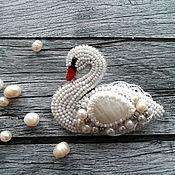"""Украшения ручной работы. Ярмарка Мастеров - ручная работа """"Белая лебедь"""" брошь. Handmade."""