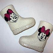 """Обувь ручной работы. Ярмарка Мастеров - ручная работа Валенки детские """"Мини Маус"""". Handmade."""