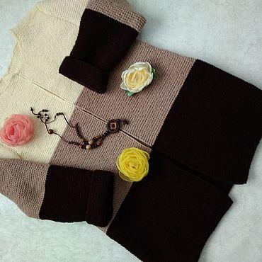 Одежда ручной работы. Ярмарка Мастеров - ручная работа Кардиганы: Три шоколада.. Handmade.