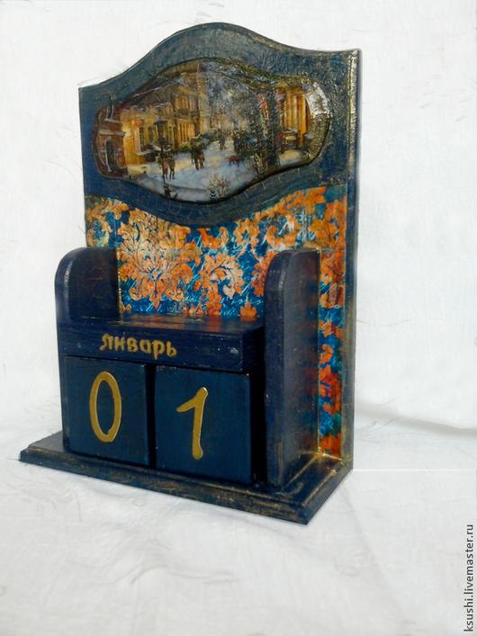 Комплекты аксессуаров ручной работы. Ярмарка Мастеров - ручная работа. Купить Вечный календарь Сказочный вечер. Handmade. Тёмно-синий