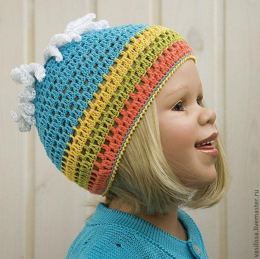 летняя шапочка для малышки. Попова Елена Игоревна