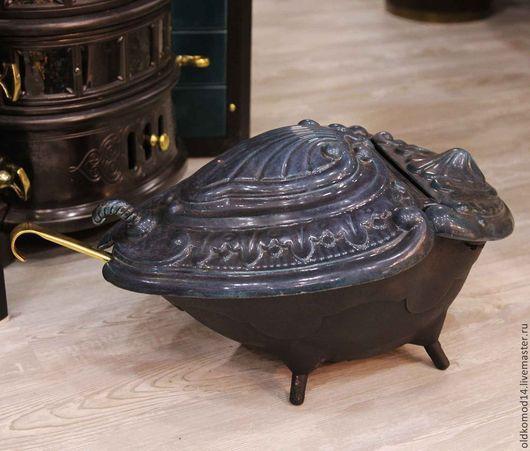 Винтажные предметы интерьера. Ярмарка Мастеров - ручная работа. Купить Старинная чугунная угольница. Handmade. Черный, антиквариат