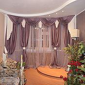 Для дома и интерьера ручной работы. Ярмарка Мастеров - ручная работа Классические шторы в гостиную с эркером. Handmade.