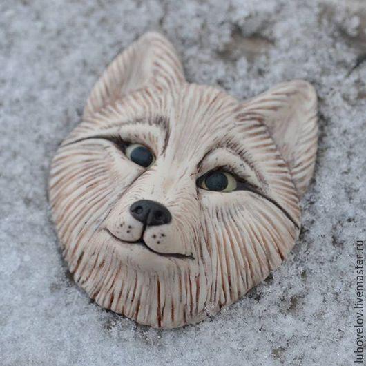 Кулоны, подвески ручной работы. Ярмарка Мастеров - ручная работа. Купить Волчица (Волк). Handmade. Бежевый, полимерная глина