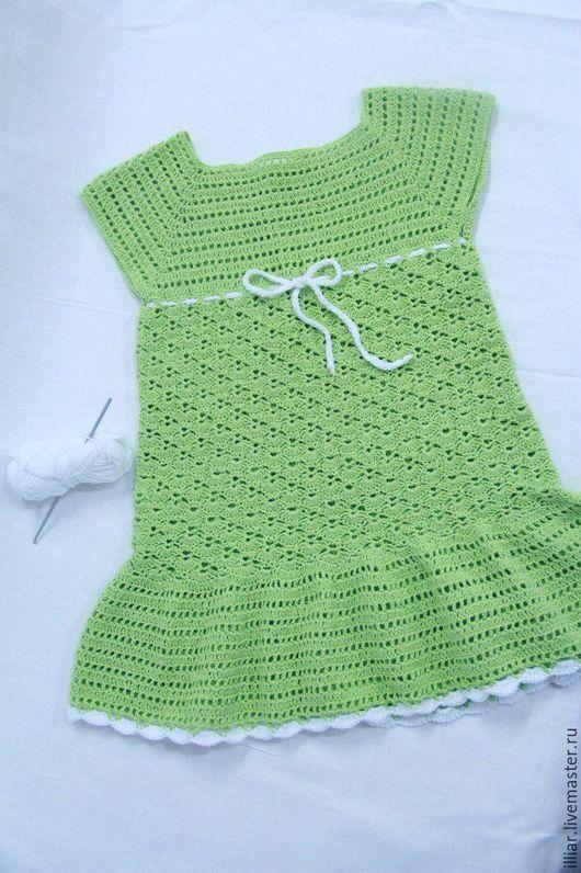 """Одежда для девочек, ручной работы. Ярмарка Мастеров - ручная работа. Купить Платье """"Лето"""". Handmade. Зеленый, платье для девочки"""