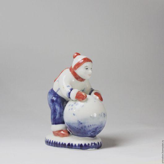 Статуэтки ручной работы. Ярмарка Мастеров - ручная работа. Купить Снежный ком. Handmade. Комбинированный, дети, снеговик, ручная работа