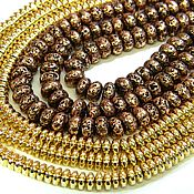 Материалы для творчества handmade. Livemaster - original item Spacer separator for beads GOLD, (COPPER ENDED) .. pcs. Handmade.