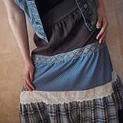 Одежда ручной работы. Ярмарка Мастеров - ручная работа Юбка длинная Арт.021, кантри из хлопка многоярусная. Handmade.
