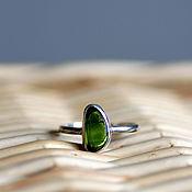 Украшения ручной работы. Ярмарка Мастеров - ручная работа Серебряное кольцо с зеленым хромдиопсидом. Handmade.