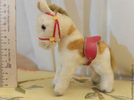Винтажные куклы и игрушки. Ярмарка Мастеров - ручная работа. Купить мохеровая антикварная лошадка. Handmade. Бежевый, антик, ручки, торс