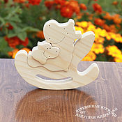 Stuffed Toys handmade. Livemaster - original item Wooden toys. Puzzle rocking chair