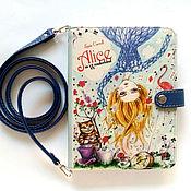 """Клатчи ручной работы. Ярмарка Мастеров - ручная работа Клатч в виде книги """"Alice in Wonderland"""". Handmade."""