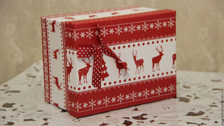 Коробка для новогодних подарков 92