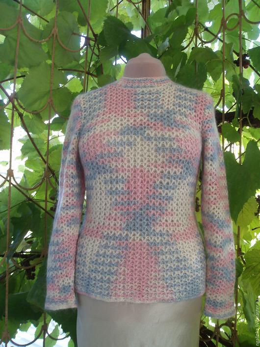 Кофты и свитера ручной работы. Ярмарка Мастеров - ручная работа. Купить Свитер из мохера Голубое и розовое. Handmade. Комбинированный