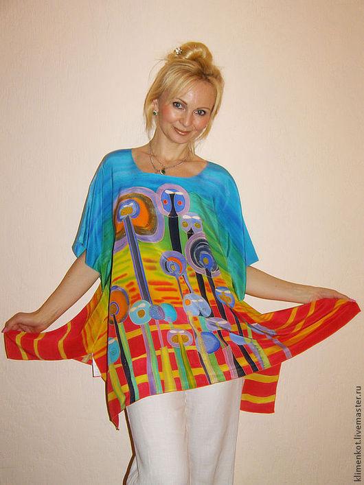 Большие размеры ручной работы. Ярмарка Мастеров - ручная работа. Купить блуза-Хундервассер-1. Handmade. Рисунок, большие размеры