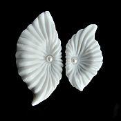 "Украшения handmade. Livemaster - original item Porcelain brooch ""Asterodea"", set. Handmade."