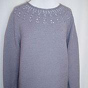 Одежда ручной работы. Ярмарка Мастеров - ручная работа джемпер из шерсти Серый цвет. Handmade.