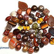 Материалы для творчества handmade. Livemaster - original item Mix 20g Metallic brown Czech beads Preciosa. Handmade.