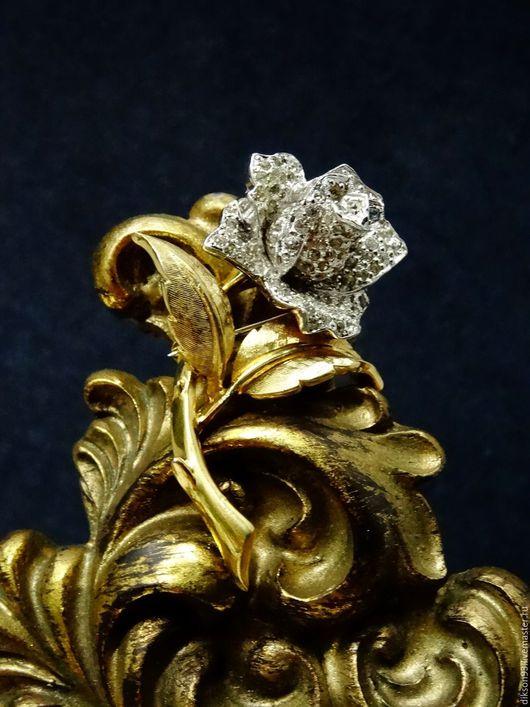 """Винтажные украшения. Ярмарка Мастеров - ручная работа. Купить Брошь """"Diamond Rose""""   Jomaz. Handmade. Jomaz, кУпиТЬ винТажнУЮ бРоШЬ"""