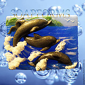 """Формы ручной работы. Ярмарка Мастеров - ручная работа Силиконовая форма для мыла """"Дельфины"""". Handmade."""