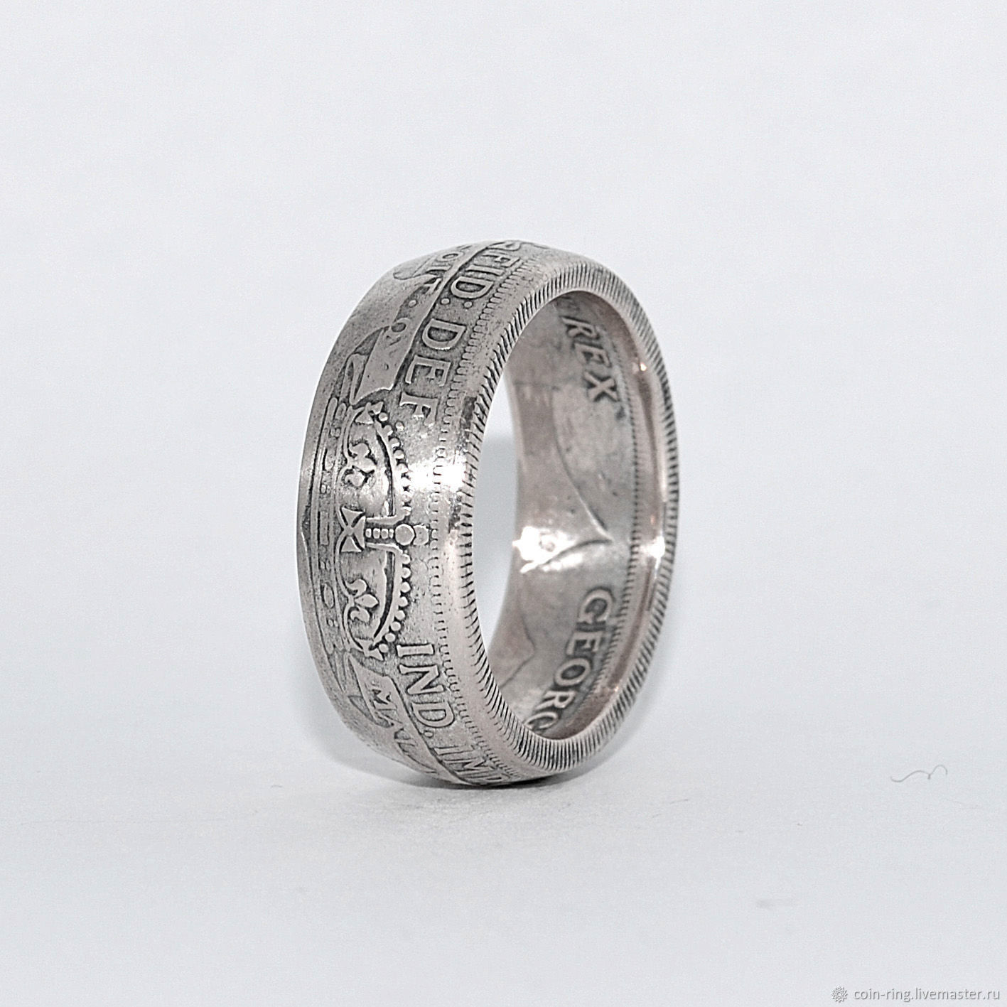 Ring from the coin great Britain 1/2 Crown 1923, silver 500, Rings, Krasnoyarsk,  Фото №1