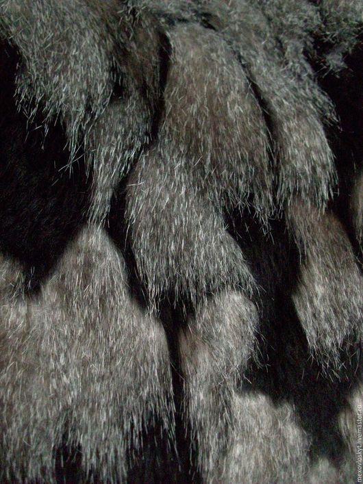Шитье ручной работы. Ярмарка Мастеров - ручная работа. Купить Искусственный мех черный. Handmade. Чёрно-белый, серый мех