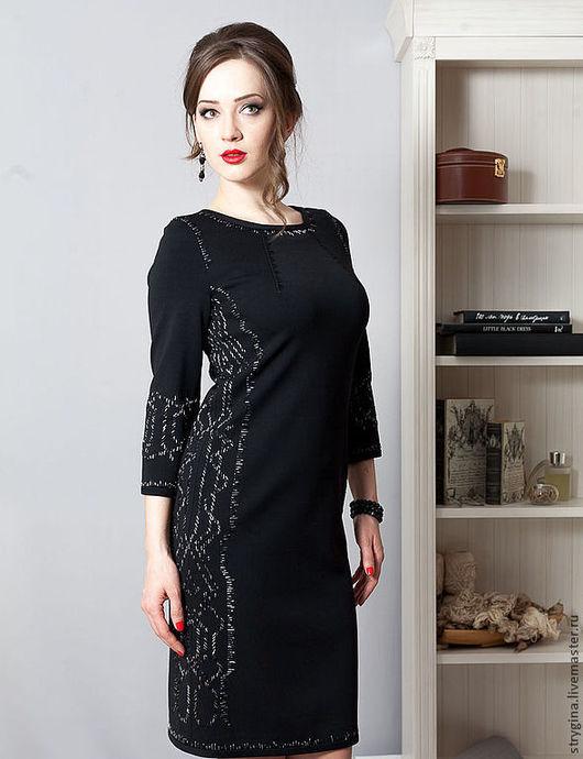 Платья ручной работы. Ярмарка Мастеров - ручная работа. Купить Платье  Paris chic. Handmade. Черный, авторская ручная работа