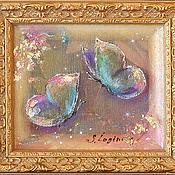 Картины и панно ручной работы. Ярмарка Мастеров - ручная работа Картина трехслойная на шелке Драгоценные бабочки-2. Handmade.