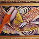 """Фантазийные сюжеты ручной работы. Ярмарка Мастеров - ручная работа. Купить Картина вышитая бисером """"Колыбель снов"""". Handmade. Золотой"""