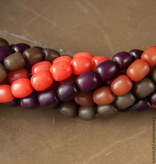 Для украшений ручной работы. Ярмарка Мастеров - ручная работа. Купить Овальные бусины из семян пальмы Buri. Handmade. Бусины