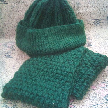 "Accesorios manualidades. Livemaster - hecho a mano Scarf and hat "" Christmas Tree"". Handmade."