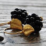 Украшения handmade. Livemaster - original item Silver plated earrings berries BlackBerry. Handmade.