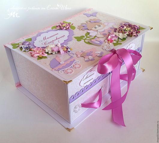 """Подарки для новорожденных, ручной работы. Ярмарка Мастеров - ручная работа. Купить Мамины сокровища Комодик """"Игра в саду"""" мамины сокровища для девочки. Handmade."""