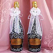 Свадебный салон ручной работы. Ярмарка Мастеров - ручная работа Декор Бутылок на Свадьбу Версаль. Handmade.