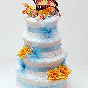 """Подарки к праздникам ручной работы. Ярмарка Мастеров - ручная работа Торт из памперсов """"Летний сон"""". Handmade."""