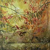 Картины и панно ручной работы. Ярмарка Мастеров - ручная работа акварель Осень в лесу (картина). Handmade.