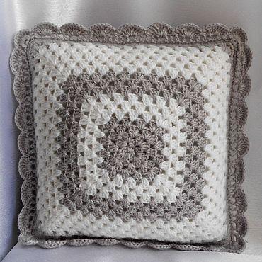 Textiles handmade. Livemaster - original item Knitted cushion