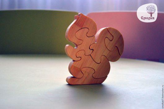 Развивающие игрушки ручной работы. Ярмарка Мастеров - ручная работа. Купить Белочка-пазл. Развивающая деревянная игрушка.. Handmade.