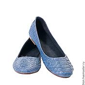 Обувь ручной работы. Ярмарка Мастеров - ручная работа Балетки  из кожи питона. Handmade.