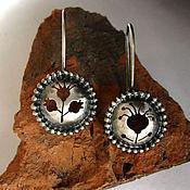 """Украшения ручной работы. Ярмарка Мастеров - ручная работа серьги из серебра """"ботаника"""". Handmade."""
